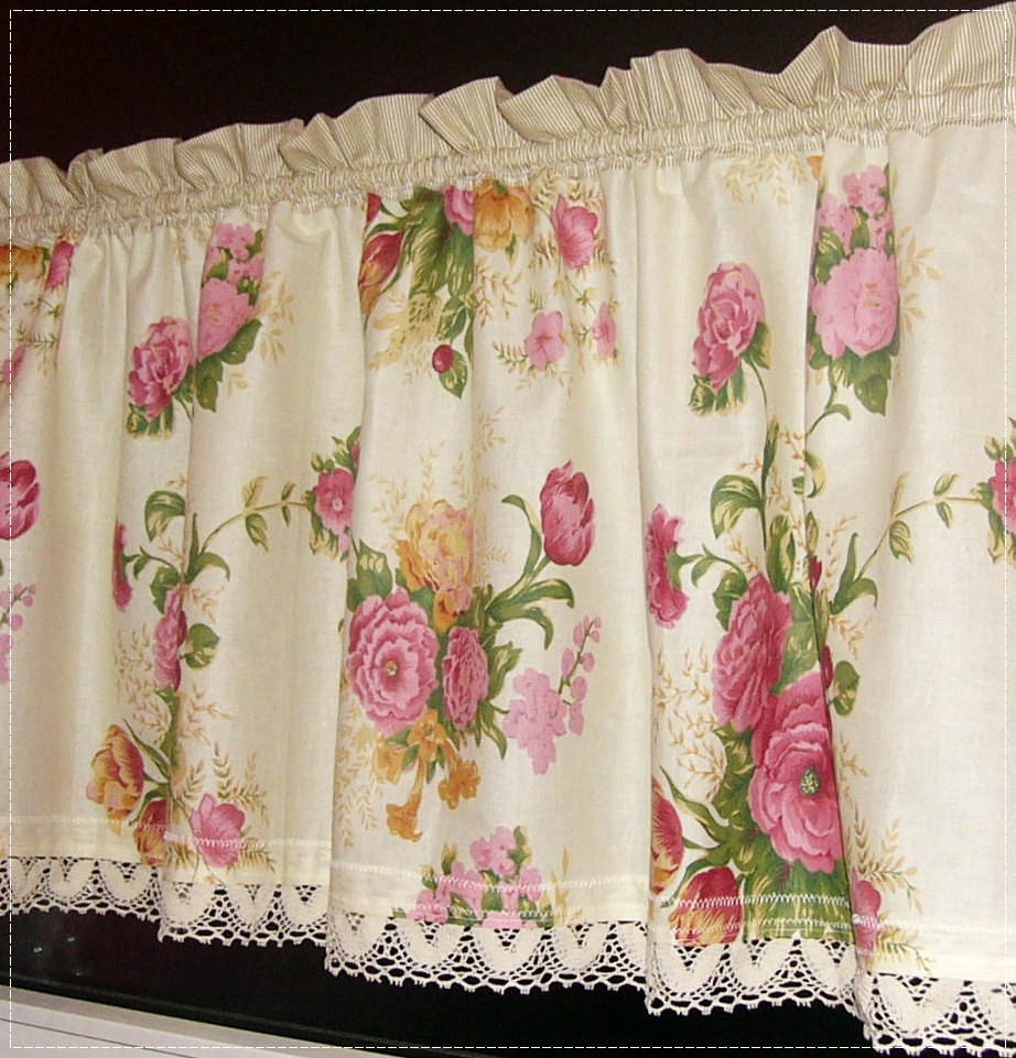Lovely Curtain, Rose Curtain,kitchen,romantic House,curtain Romantic To Your  Window,