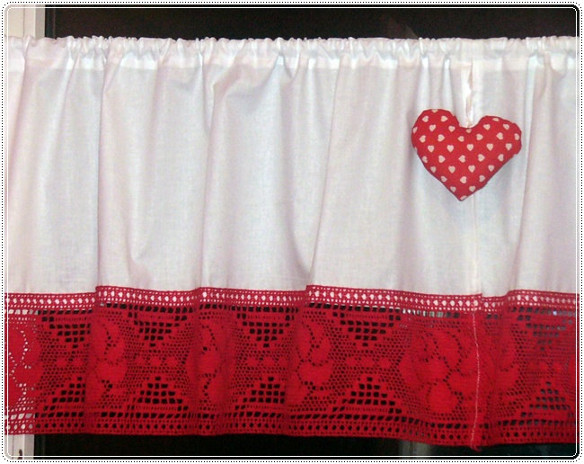Kitchen Curtains bistro style kitchen curtains : 2 Curtains Shabby Chic Bistro-style Folk,Christmas,kitchen,white ...